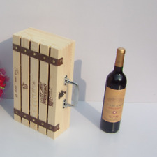 10x Natural Wood Dual Bottle Wine Box Carrier Crate Case Best Gift Decor Boxes