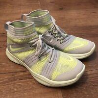 Nike Free Train Virtue Flyknit Mens Green Grey Trainers Size 7.5UK