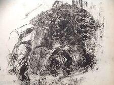 Francine AUVROUIN Gravure Erotique Sexe Ecole Paris Nue Van Gogh Expressionnisme