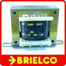 TRANSFORMADOR ALIMENTACION 220VAC A 7.5V+7.5V 3A 15V 1.6A CHASIS ABIERTO BD8301