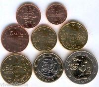 Grecia serie completa circulacion Euro 2004 @@ 8 VALORES @@