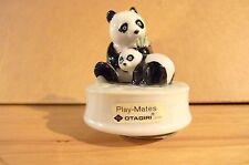 """Otagiri Japan Play-Mates ceramic panda bear music box 4"""" H 3"""" W"""