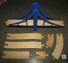 THOMAS THE TRAIN BRIO Compatible Wooden train & bridge track Mixed Lot #2 VGUC