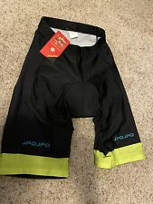 Men's Jpojpo Padded Cycling Bike Shorts ~ Medium ~ Black & Green