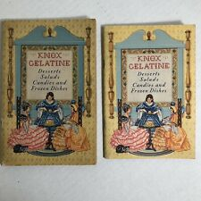 Knox Gelatine Vintage Recipe Booklets Cookbook 1933, 1936