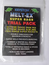 Kryston Nelt-Ex Super PVA bags Trial pack 6 bags in 3 sizes 2of each