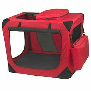 Pet Gear 3 Door Portable Soft Crate Folds Compact for Travel in Seconds No To...