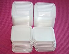 20 Reusable Mini Plastic Containers & Lids BPA Free Condiment Small Crafts etc!