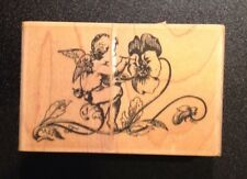 Rubber Stamp Large Pansy Painter Angel Rubber Stamp Stampington & Company
