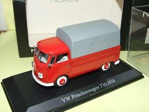 VW COMBI T1b PICK UP BACHE Rouge NOREV