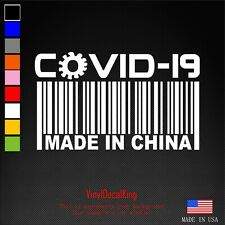 MADE IN CHINA COVID Vinyl Decal, Bumper Sticker, Virus, 19, Outdoors, etc