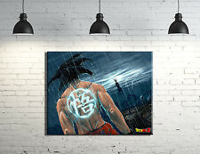 "Dragonball Z Goku ""Battle of the Gods"" Framed Canvas Anime Wall Art"