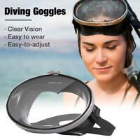 Adjustable Swimming Diving Face Scuba Snorkel Set Adult Dive Equipment Goggles