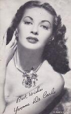 YVONNE DE CARLO -  hollywood  MOVIE  STAR/actress 1950s  arcade/exhibIit card