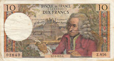 Billet banque 10 Frs VOLTAIRE 07-09-1972 S Z.816 état voir scan