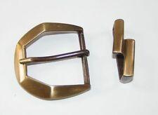 1 Schließe / Gürtelschnalle 4,2 cm altmessing 2-teile  04.55/487
