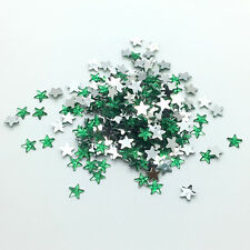 100pcs 10mm Green STARS Resin Rhinestone Gems Flat Back Crystal Beads