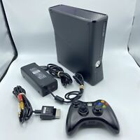 Microsoft Xbox 360 S Slim Console 1439 4GB w/ Controller & Cords Open Tray Issue