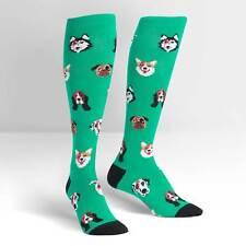 Sock It To Me Women's Knee High Socks - Dogs of Rock (UK 3-8)