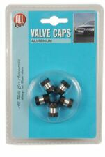 All Ride Valve Caps – Pack of 5 – Black/Silver