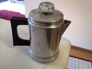VINTAGE SMALL COMET ALUMINUM 1-2 CUP  COFFEE POT PERCOLATOR