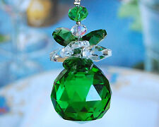 Special Edition- Green Angel Lead Glass Crystal Ceiling Fan Pull