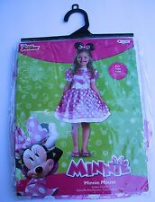 Disney Minnie Mouse Toddler Costume Small 2T Pink Disguise Dress Up  New