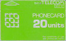 British TELECOM 20 units 947C