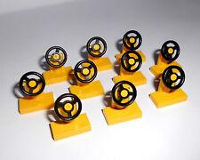 Lego (3829c01) 10 Lenkräder 1x2x1, in gelb aus 4208 3184 4431 7939 7898 4970