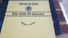 DEATH IN JUNE WALL OF SACRIFICE 2ND PRESSING LP OFFICIAL NER CURRENT 93 COIL