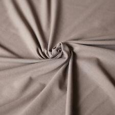 Jersey Stoff Uni TAUPE Baumwolljersey - Jerseystoff einfarbig für Shirts etc.