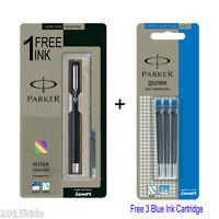 Parker Vector Standard CT Fountain Pen - Black Body + 4 Free Blue Ink USA seller