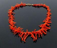 alte, echte Korallen Astkorallen Kette Halskette Collier Branch Coral Necklace