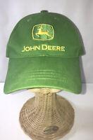 "John Deere Tractors Farm Hat ""Nothing Runs Like A Deere"" Green Strap Back Cap"