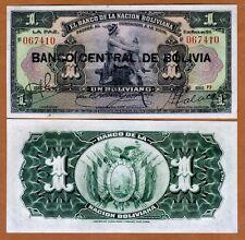 Bolivia,  1 bolivano, 1911 (1929), P-112, Ch UNC  > Black Overprint, Hand Signed
