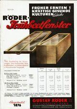 Reklame Röder-Frühbeetfenster 1958 Garten Landwirtschaft Langenhagen Hann Gustav