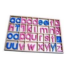 Montessori:Bewegliches Alphabet groß, Kleinbuchstaben im Kasten mit ß, ä, ö, ü