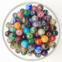 NEW 30PCS 8mm Glass Round Pearl Spacer Loose Beads Pattern Jewelry Making 40