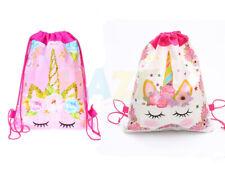 Cartoon Flower Non-Woven Drawstring Bag Kid Swimming Backpack Storage Bag Useful