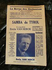 Partition Samba du Tyrol Emile Van Herck