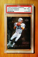 1998 UD Black Diamond PEYTON MANNING Rookie Colts PSA 8.5