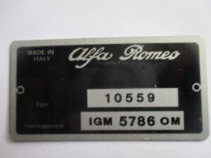 Nameplate Alfa Romeo Shield 10559 Giulia Bertone Gta S37