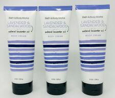 3 Lavender & Sandalwood Bath & Body Works Body Cream w/ Natural Lavender Oil 8oz
