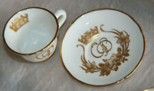 OAKLEY CHINA MINIATURE CUP & SAUCER HAND PAINTED COLLECTIBLE 03
