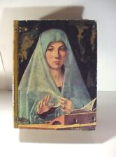 CIRCA ART NEW YORK: BALL FOOTED BOX W MADONNA COVER FOR STORING RELIGIOUS ITEMS