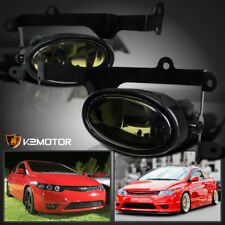 For 2006-2008 Honda Civic 2Dr Coupe Smoke Lens Bumper Driving Fog Lights+Switch