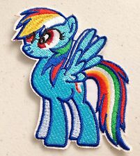 My Little Pony Rainbow Dash Iron On Sew On Patch Clothes Girls Fairy