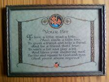 Great Vintage Framed Picture ~ Your Bit - Inspirational Print