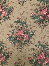 Vintage Wallpaper Katzenbach & Warren Floral Green Pink