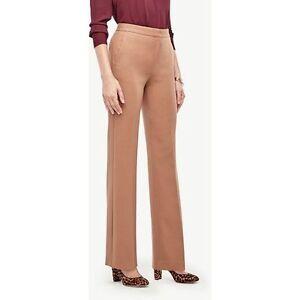 Ann Taylor - Size 10 (MEDIUM) Deep Tan Flare Pant in Stretch $119.00 NWT (H)